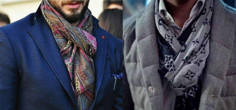Мужские шарфы из неплотного материала