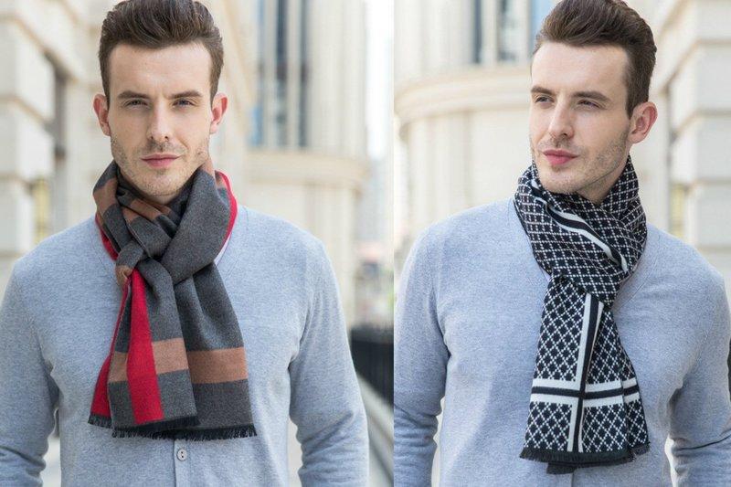Мужской шарф из кашемира