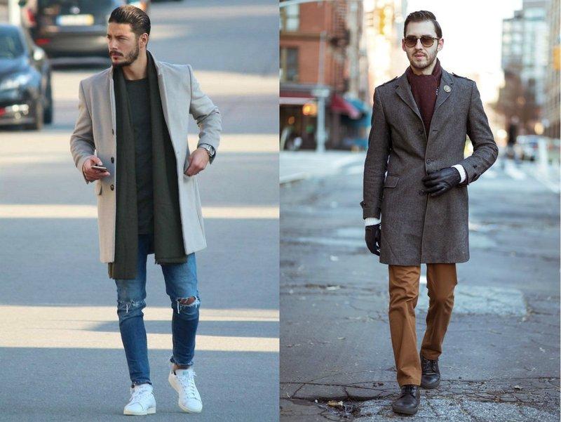 Модные мужские образы с шарфом
