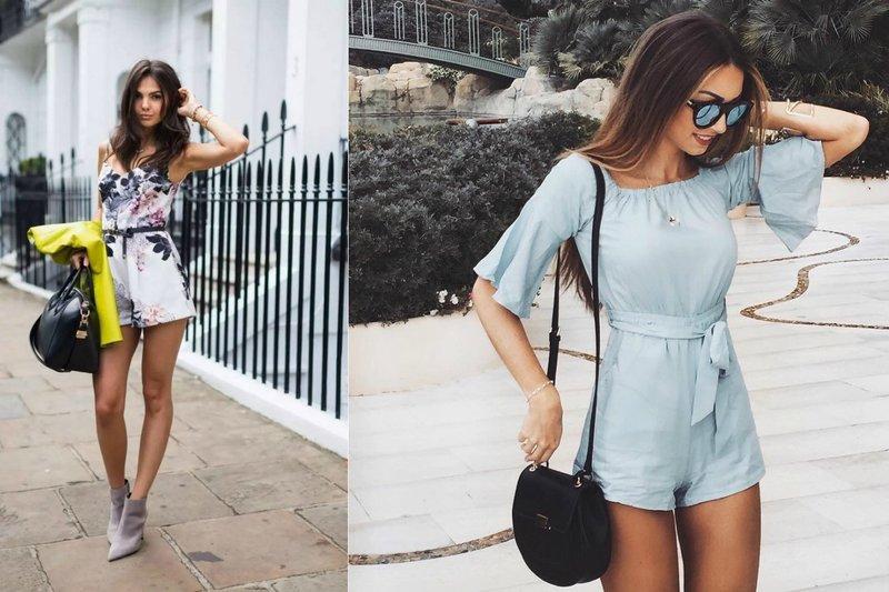 Модный образ на лето с комбинезоном-шортами