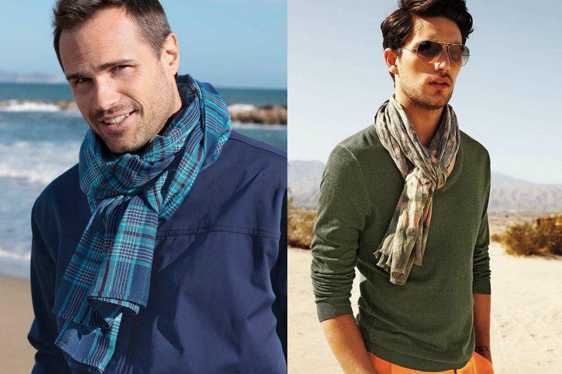 Мужской шарф палантин в романтическом стиле