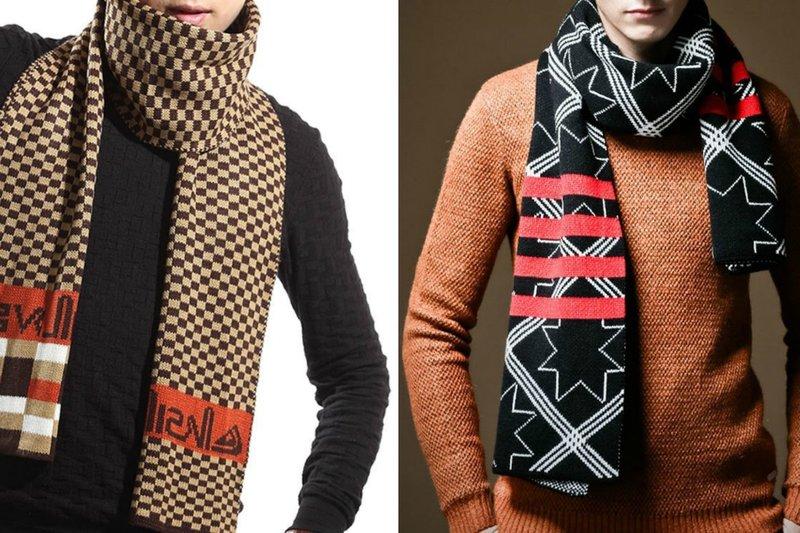 Модные шарфы для мужчин: геометрические узоры