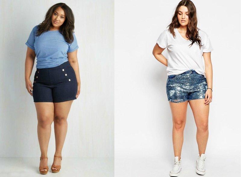 Модели шорт для полных девушек