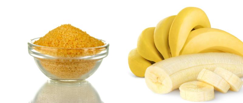 Маска из желатина и банана