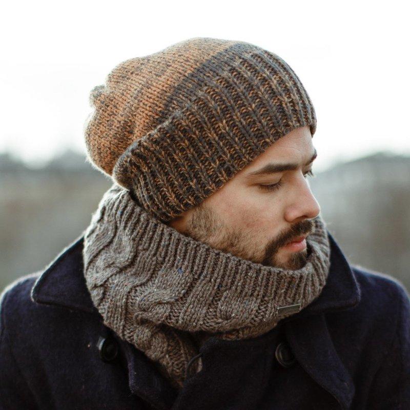 Теплый шарф-воротник
