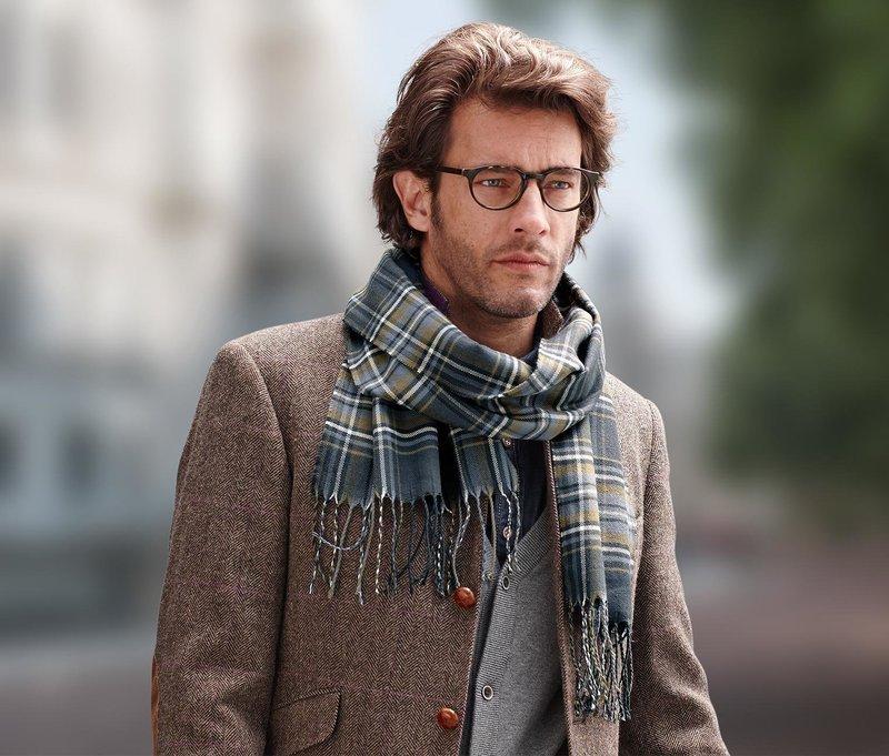 Модели скандинавских мужских шарфов