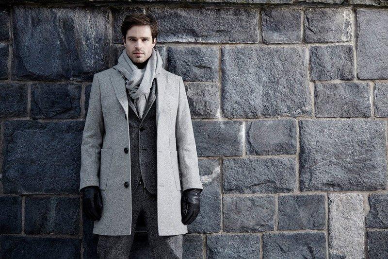 Мужской шарф в классическом стиле