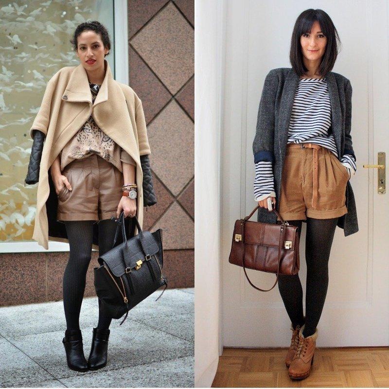 Женские шорты осень-весна