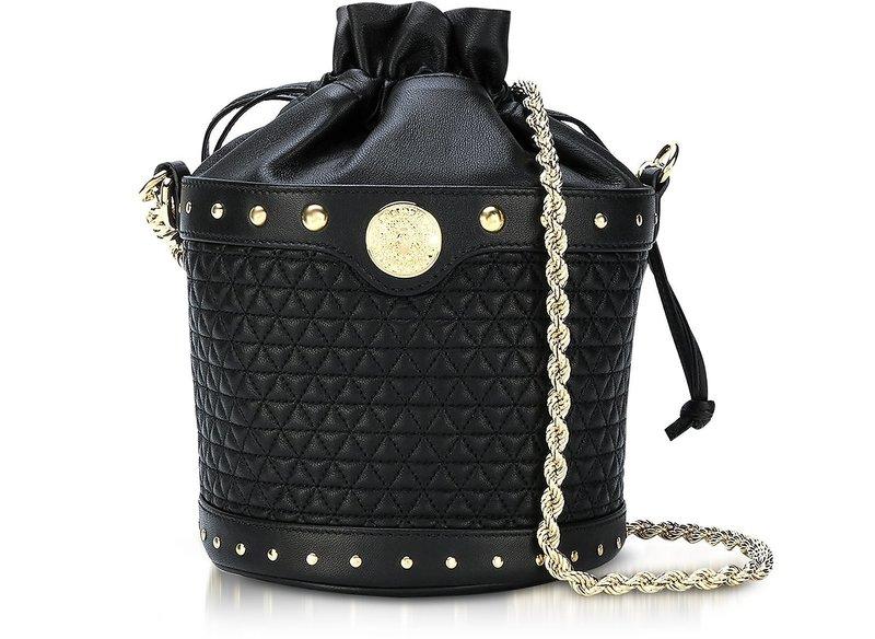 Чёрная сумочка-мешок