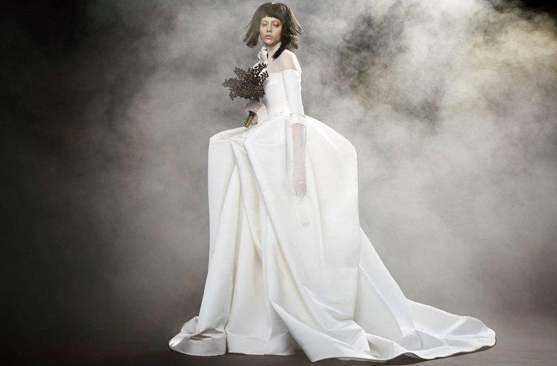 Осеннее свадебное платье Вера Вонг
