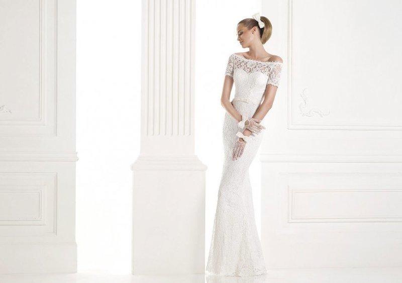 Прямой фасон свадебного платья