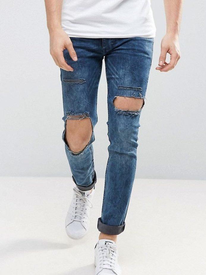 Мужские джинсы с дырками