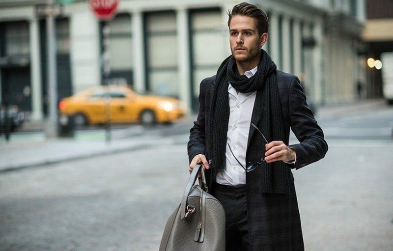 Модные модели мужских шарфов