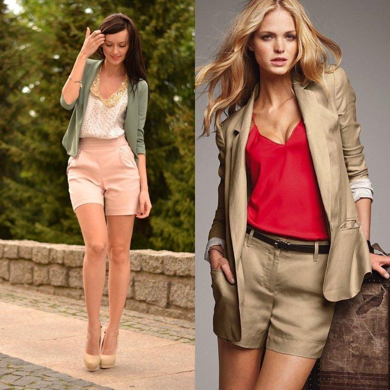 Удлиненные шорты на лето