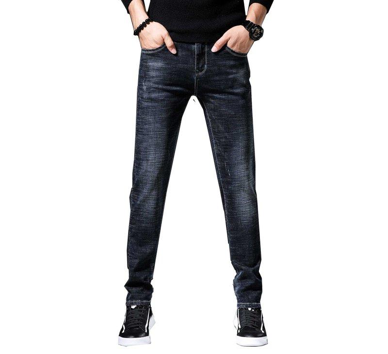 Чёрные мужские джинсы скинни