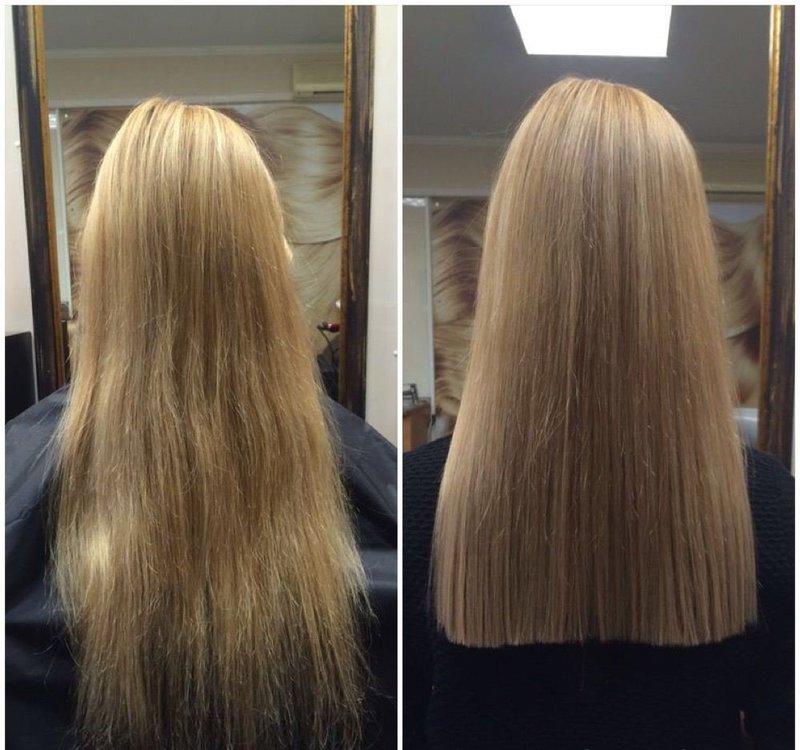 Стрижка одной длины на длинные волосы