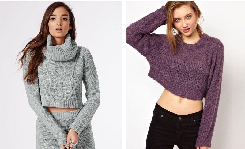 Вариации кроп-свитеров