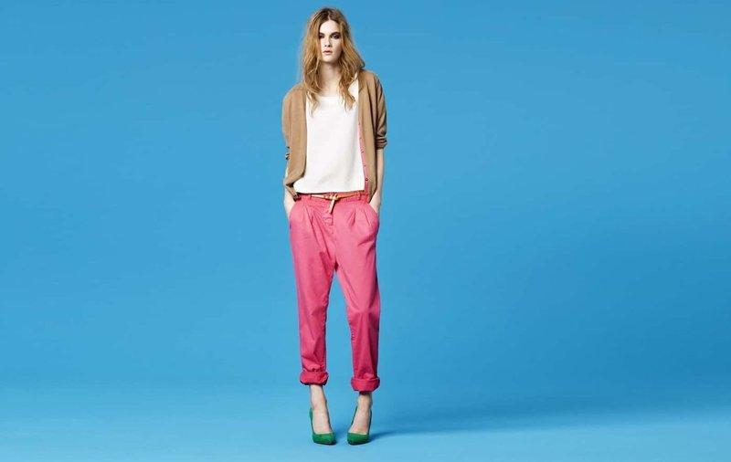 Розовые брюки- бананы