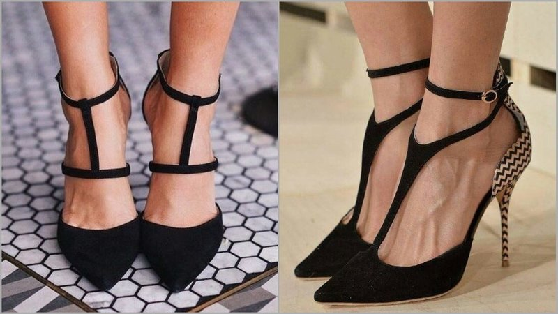 Туфли с необычным ремешком