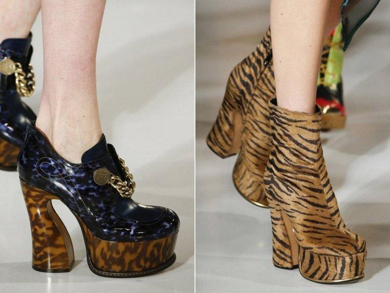 Звериные принты на туфлях