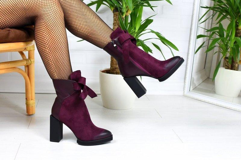 Бархатные ботинки осень-зима 2019-2020