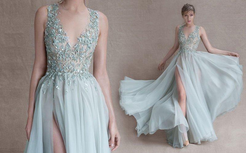 Пастельное платье