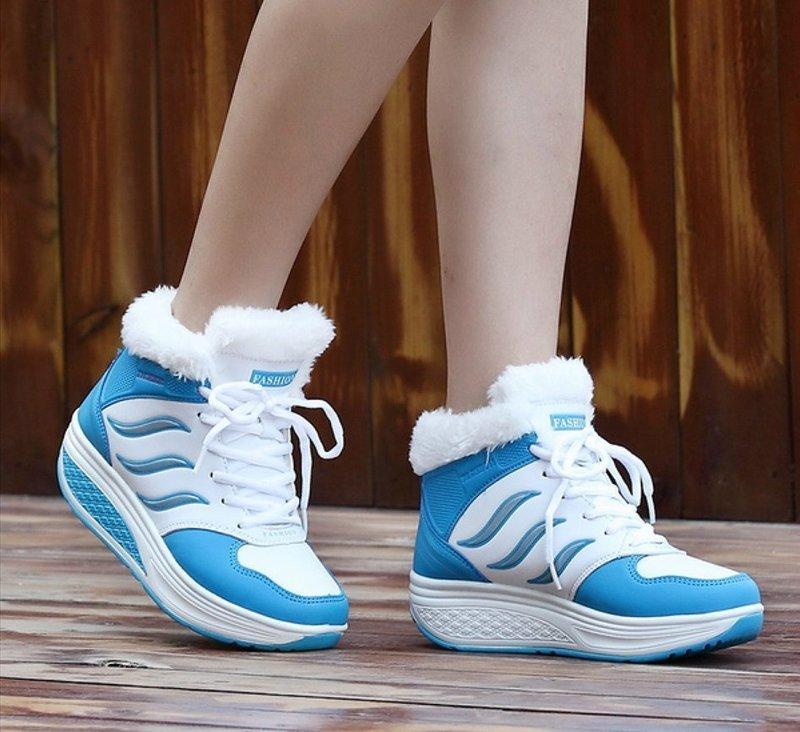 Утепленные кроссовки на платформе