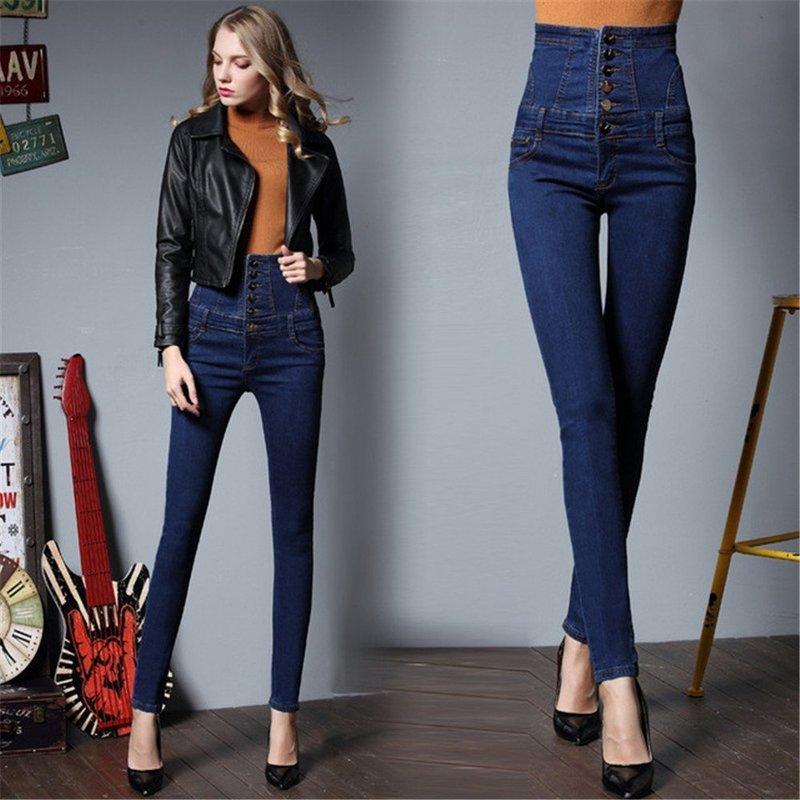 Модели джинс с очень высокой талией