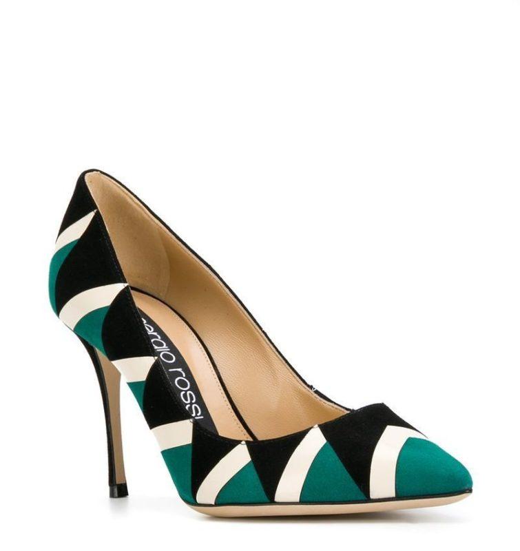 Туфли-лодочки с геометрическим принтом