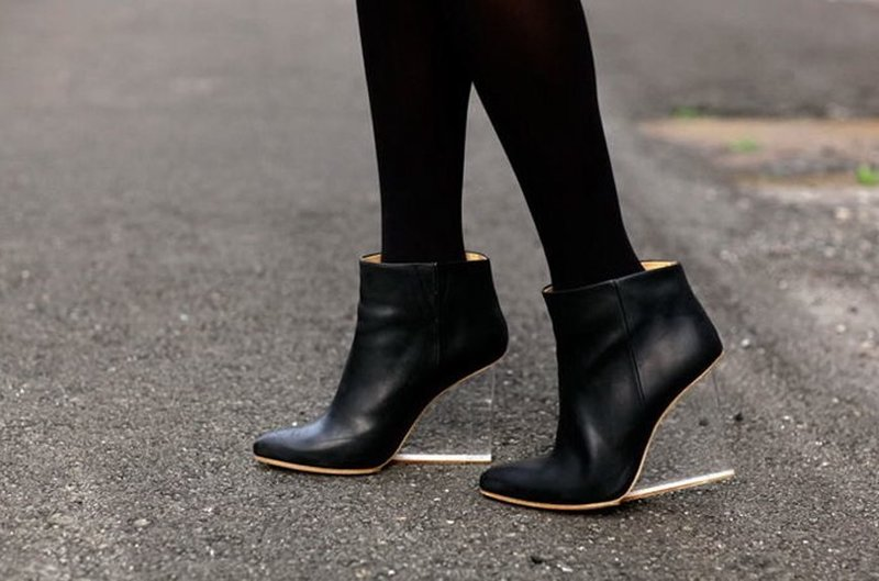 Обувь осень-зима: прозрачная платформа