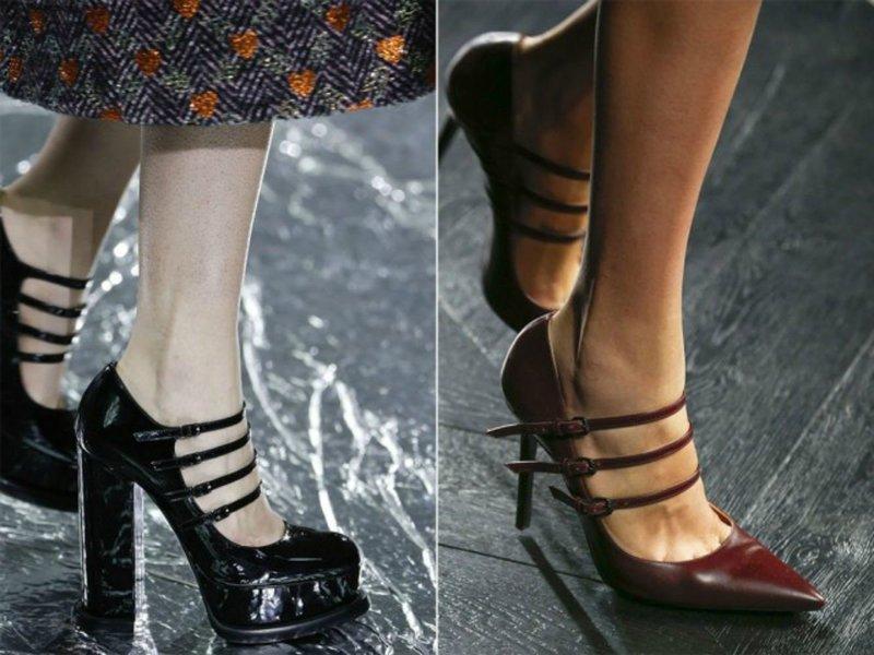 Туфли с тремя ремешками