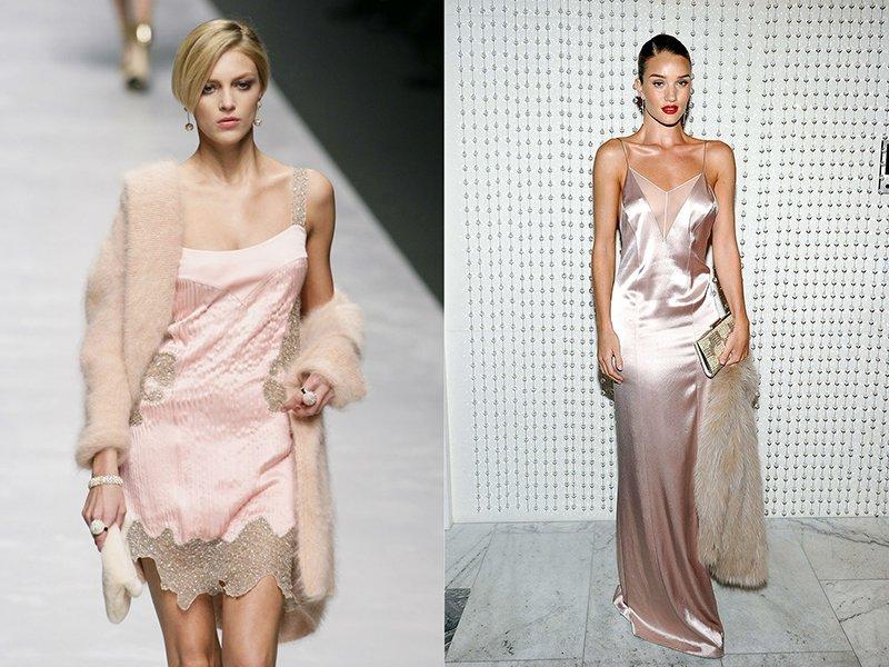 Бельевой стиль платьев