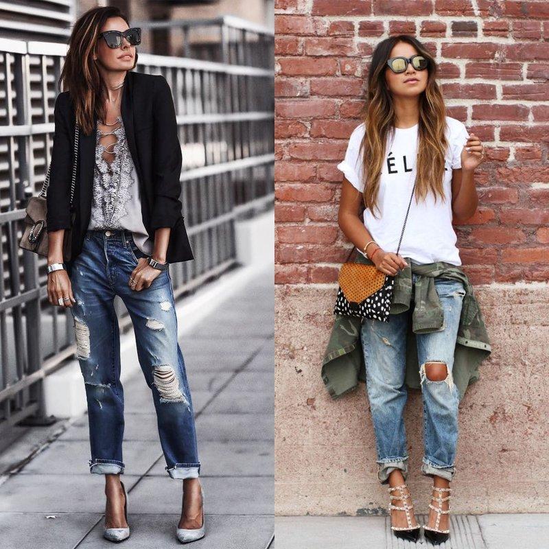 Красивые девушки в джинсах boyfriend