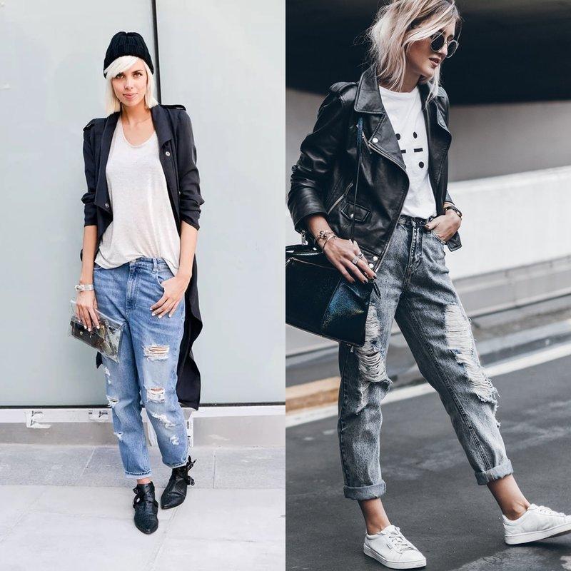 Женские джинсы boyfriend: модные образы