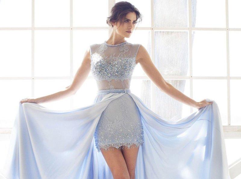 Нежное платье со съёмной юбкой
