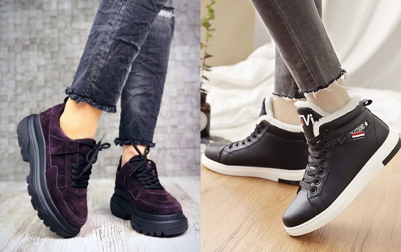 Модели утепленных кроссовок