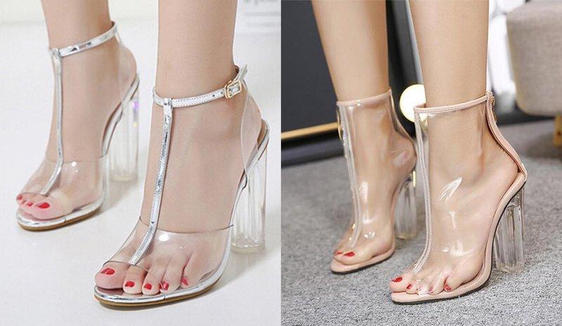 Нежная обувь с прозрачными элементами