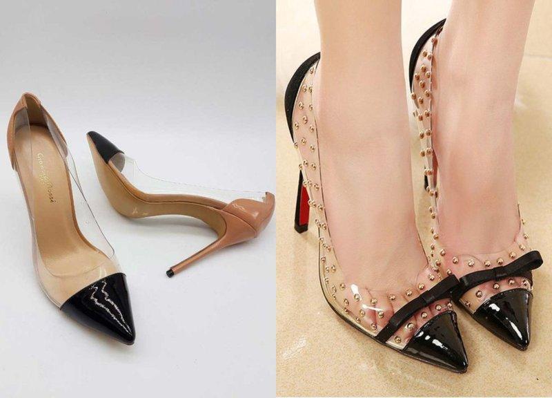 Элегантные туфли с прозрачными элементами