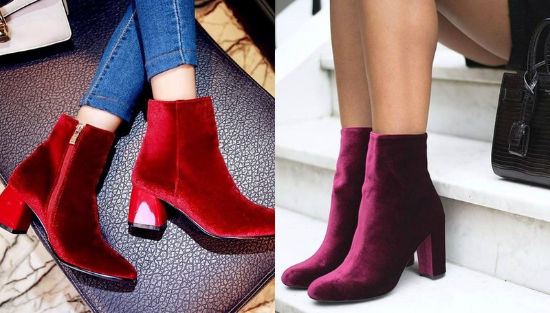 Обувь из бархата: осень-зима 2019
