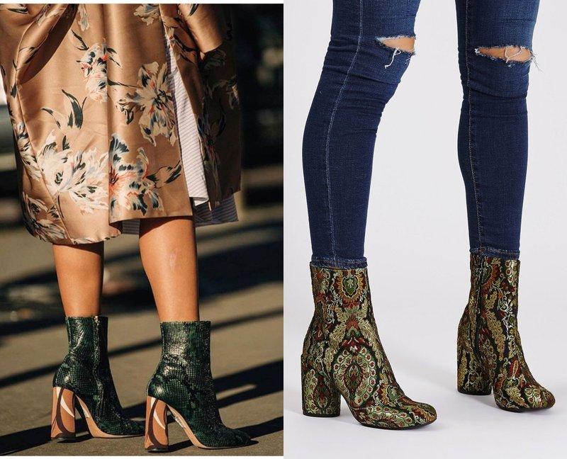 Модные ботинки из кожи рептилий