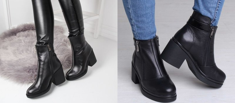 Классические модели обуви с широким каблуком