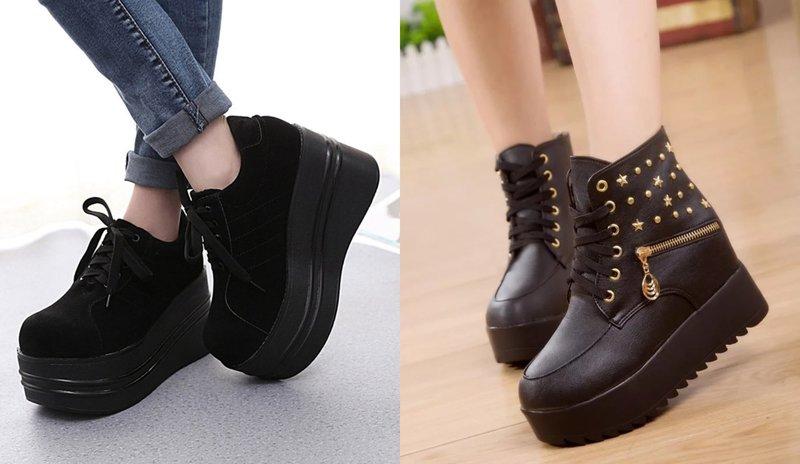 Массивная женская обувь