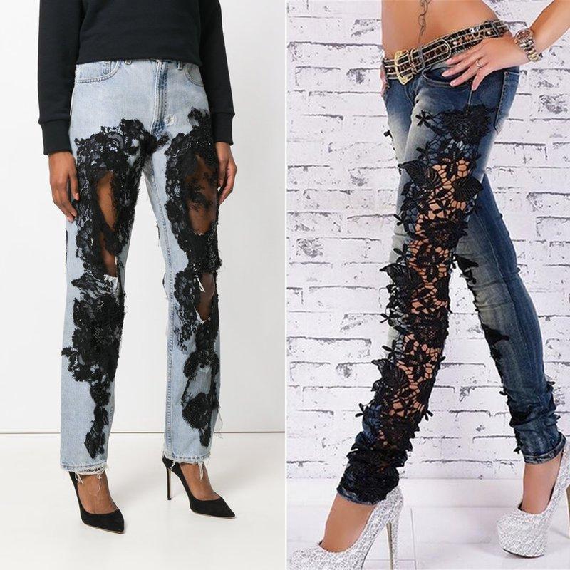 Оригинальный дизайн джинс