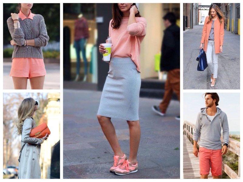 """Модные образы с цветом """"живой коралл"""""""