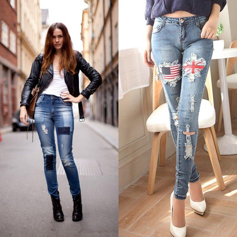 Модные джинсы с дополнительным декором