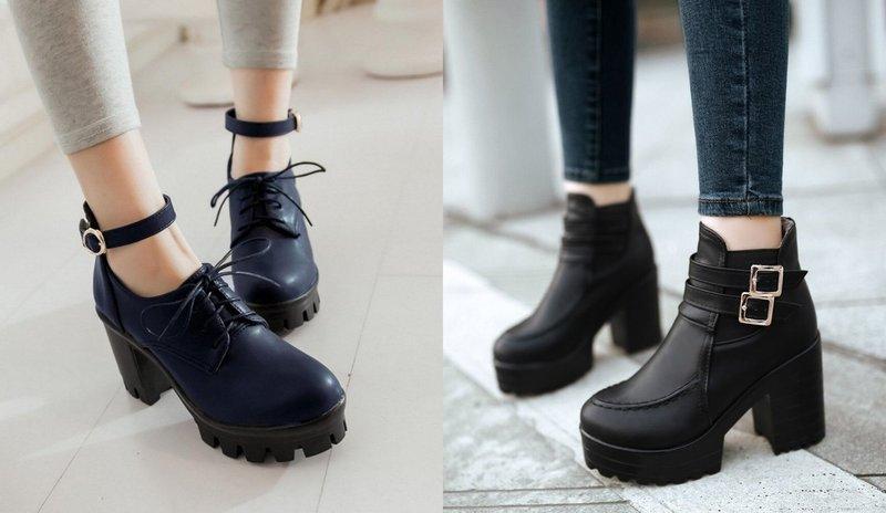 Массивные ботинки на осень