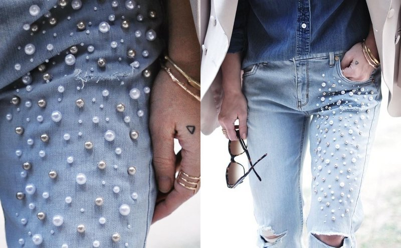 Дополнительный декор на джинсах