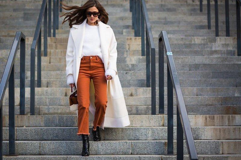 Укороченные брюки на осень