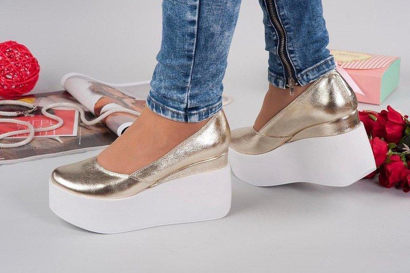 Туфли со сплошной высокой платформой