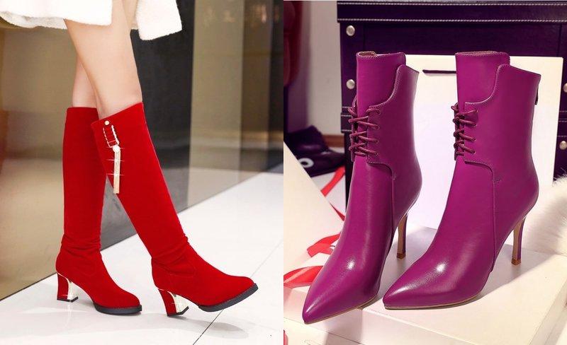 Яркие модели обуви с острым носком